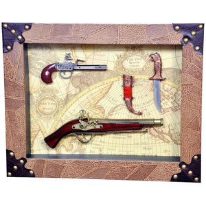 guns swords collectible set wall decor to hang