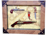 Guns & Knife Collectible Set for Wall Decor