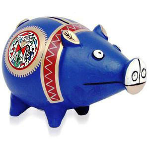 hand painted piggy bank gift