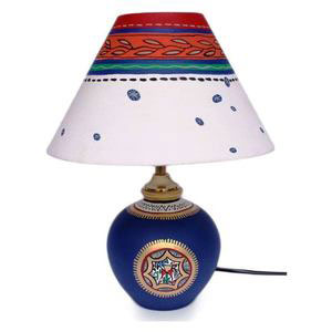 hand painted table lamp gift