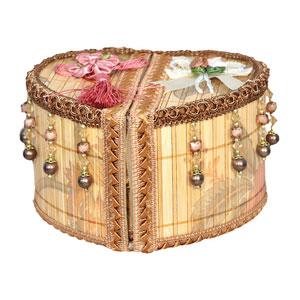 handmade heart shape jewellery box