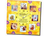 Happy Birthday Quotation Clock with 8 Photos Frame