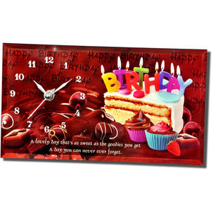 happy birthday quotation table clock