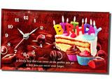 Happy Birthday Quotation Table Clock