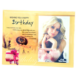 happy birthday wishes quotation photo frame