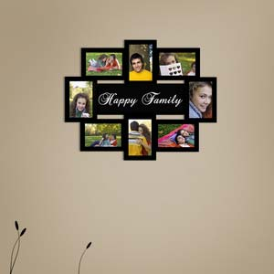 happy family collage photo frame