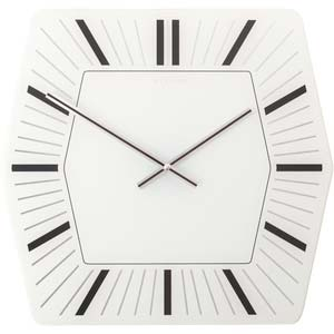 hexagone designer clock from nextime 8128wi