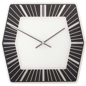 hexagone designer clock from nextime 8128zw