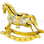 horse rocking gold plated with swarovski crystals