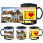 I Love Agra Black Mug - image