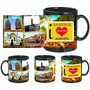 i love asansol black mug