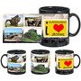 i love aurangabad black mug