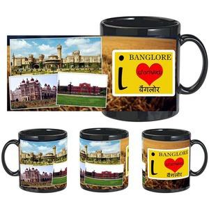 i love banglore black mug