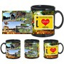 I Love Chandigarh Black Mug - image