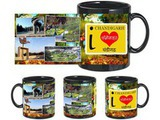 I Love Chandigarh Black Mug