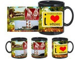 I Love Faridabad Black Mug