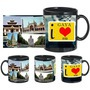 I Love Gaya Black Mug - image