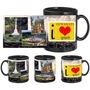 I Love Guwahati Black Mug - image