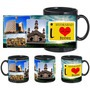 i love hydrabad black mug