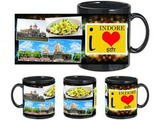 I Love Indore Black Mug