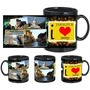 i love jabalpur black mug
