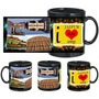 i love jaipur black mug