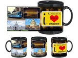 I Love Kolkata Black Mug
