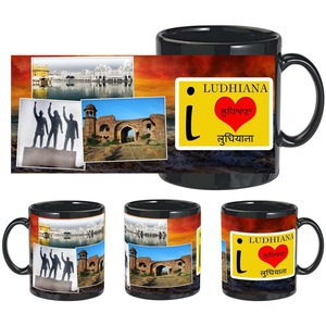 i love ludhiana black mug