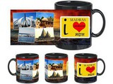 I Love Madras Black Mug