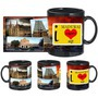 i love madurai black mug