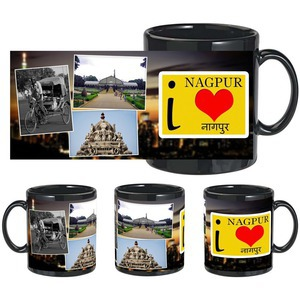 i love nagpur black mug