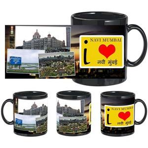i love navi mumbai black mug