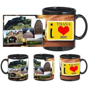 i love thana black mug