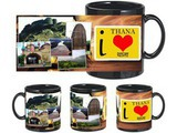 I Love Thana Black Mug