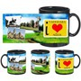 i love vadodara black mug