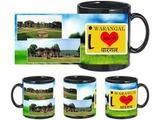 I Love Warangal Black Mug