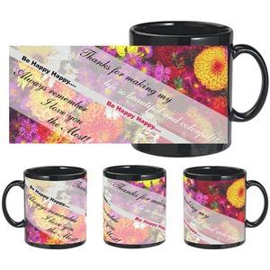 i love you the most black mug