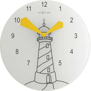 light house designer clock from nextime 8808