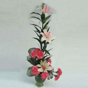 lilies pink carnations stunning beauty