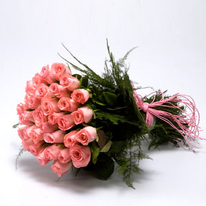 long stem pink roses with fillers