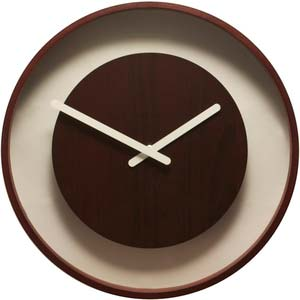 loop wood designer clock from nextime 3046br