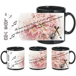 love guitar black mug