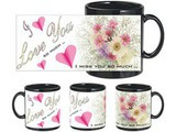 Love Miss Much Black Mug