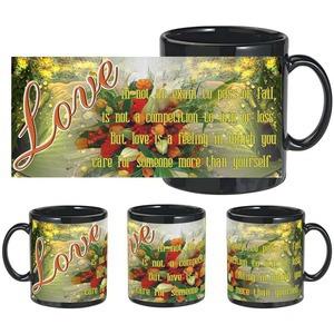 love more self black mug