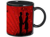 Love Black Photo Mug with Premium Chocolates