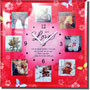 love quotation clock with 8 photos frame