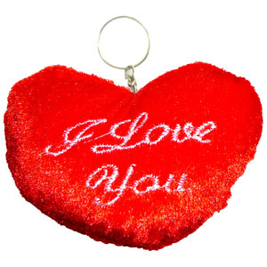 lovely red heart love you keychain