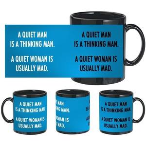 man woman quotes black mug