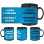 Man Woman Quotes Black Mug - image