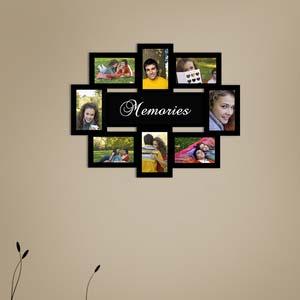 memories photo collage frame black 4x6